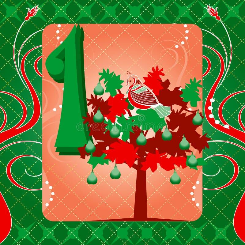 1r Día de la Navidad ilustración del vector