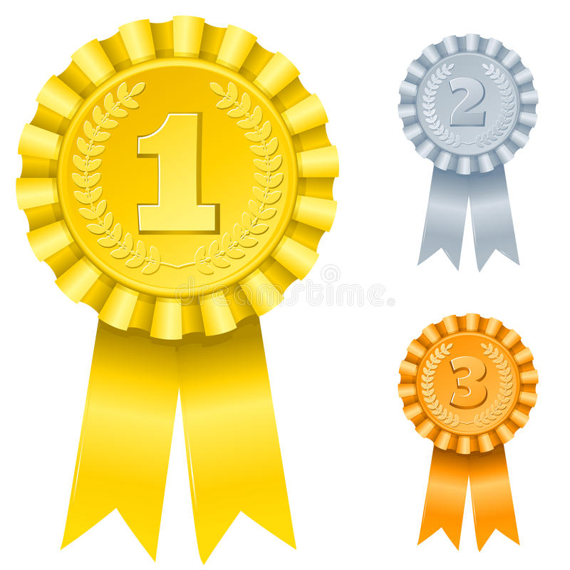 1st; 2nd; 3rd Awards Stock Photos