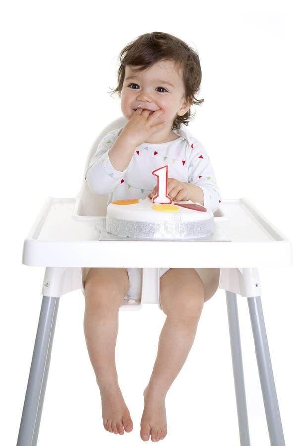 1st behandla som ett barn födelsedag arkivfoto