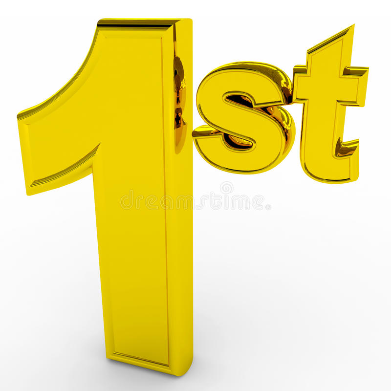 Free 1st Place. Gols Sign. Stock Image - 23555761