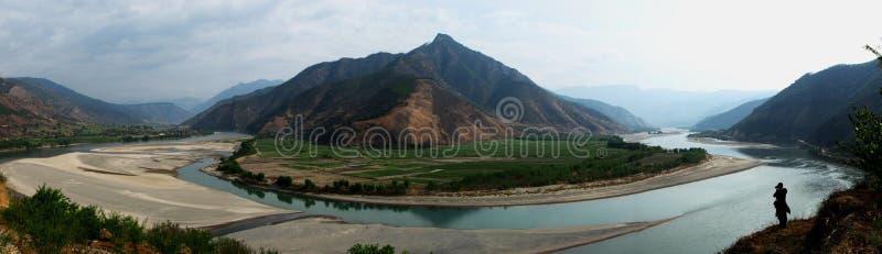The 1st turn of Yangzi River stock photo