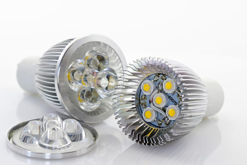 Download 1W LED lamp with optics stock image. Image of objects - 24903399