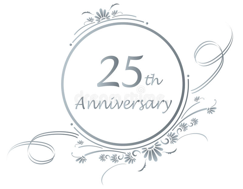 2ö projeto do aniversário ilustração royalty free
