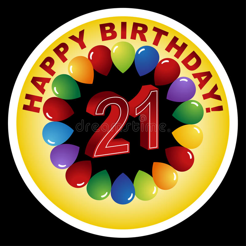 2ø aniversário feliz! ilustração royalty free