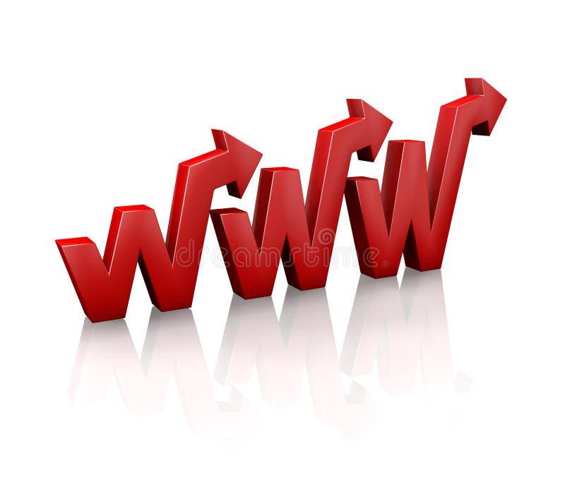 2万维网宽世界 皇族释放例证