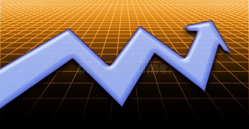 2上升的股票 皇族释放例证