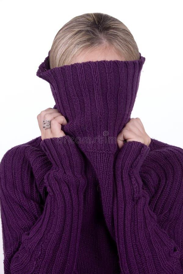 2下拉式毛线衣 免版税库存照片