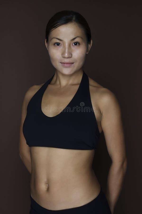 2个亚洲人健身设计 库存照片