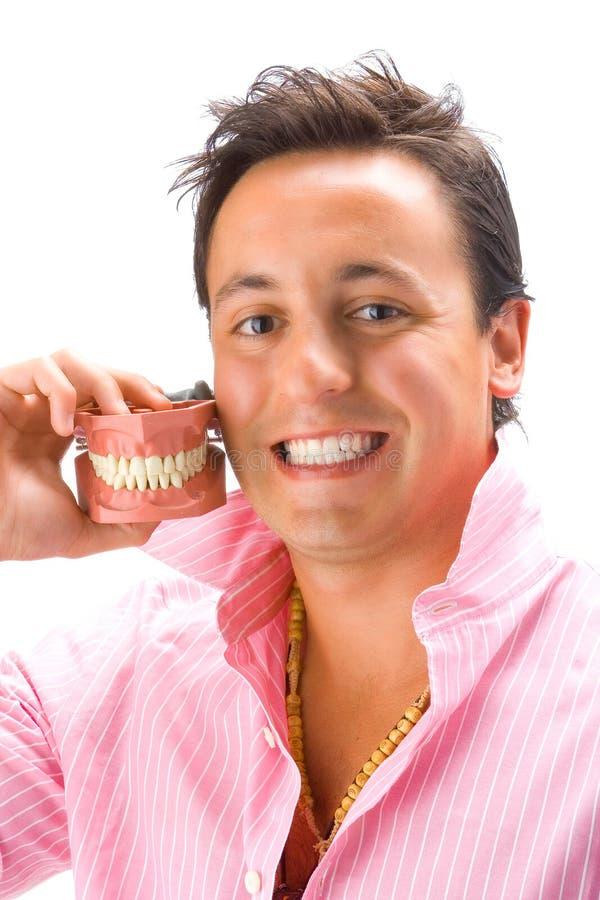 2个假牙人年轻人 免版税图库摄影
