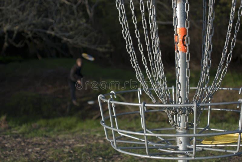 2个光盘高尔夫球使用 免版税库存图片