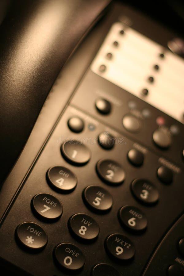 2个办公室电话 库存照片