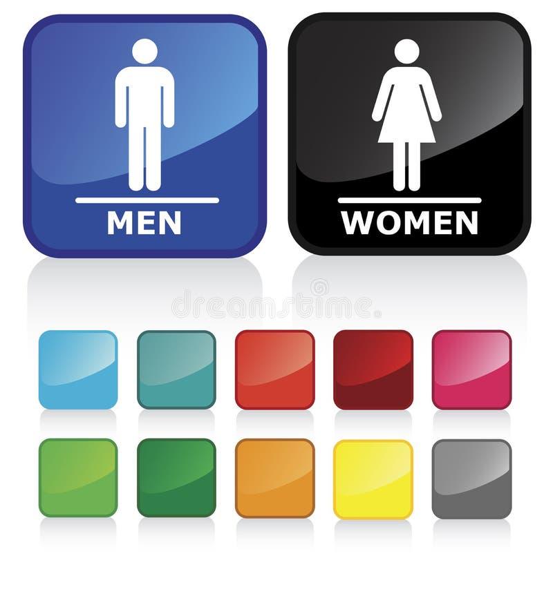 2个卫生间符号 库存例证