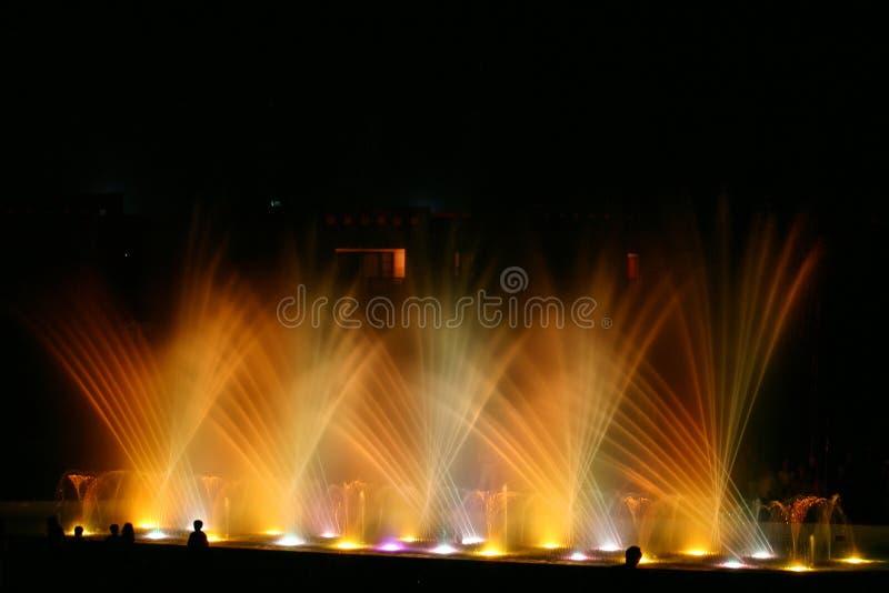 2个喷泉光 免版税库存照片