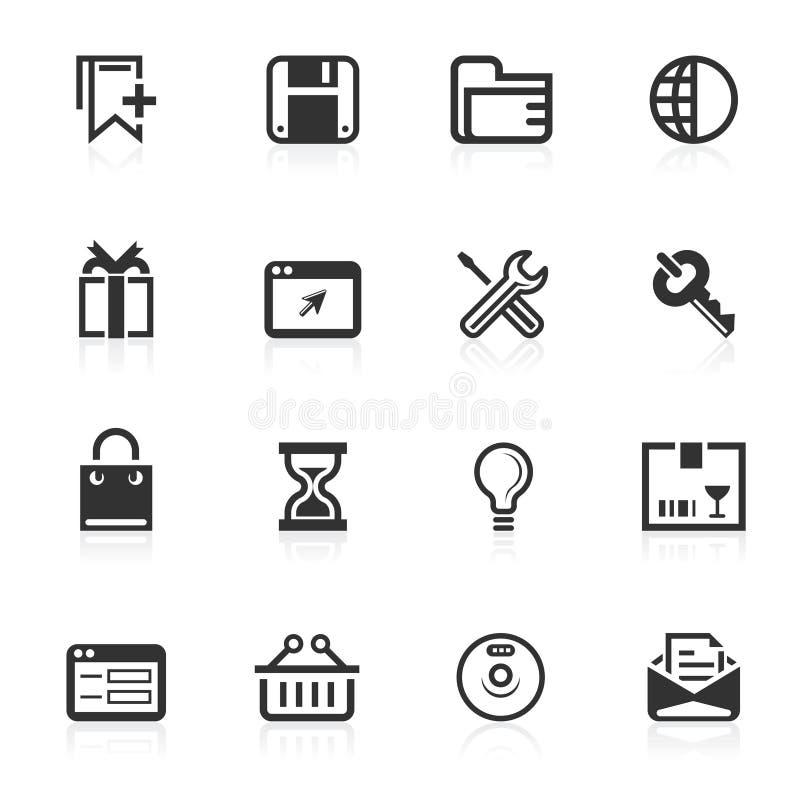 2个图标互联网minimo系列万维网 免版税库存图片