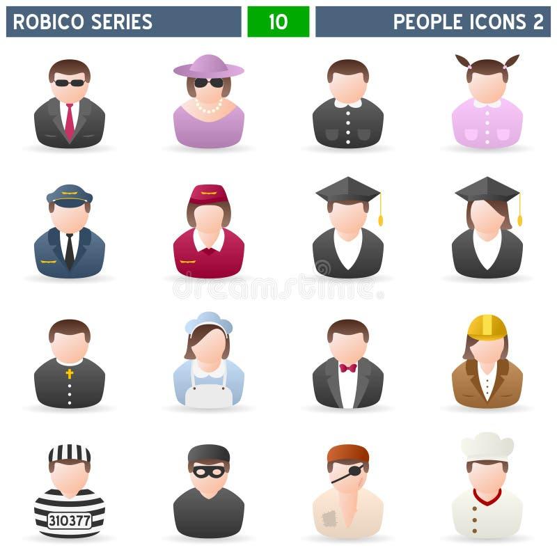 2个图标人robico系列 库存例证
