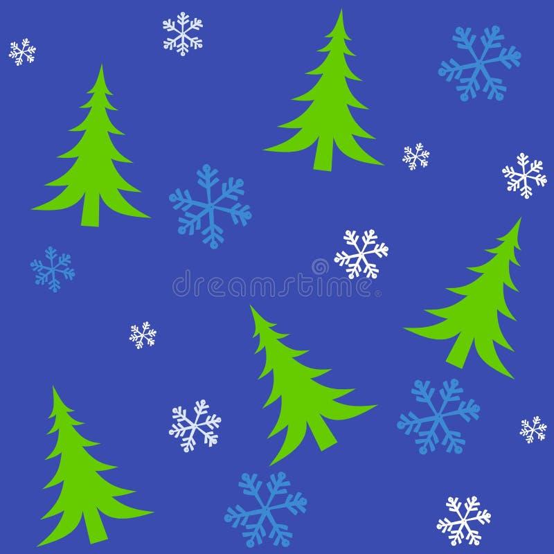 2个圣诞节tileable结构树 库存例证
