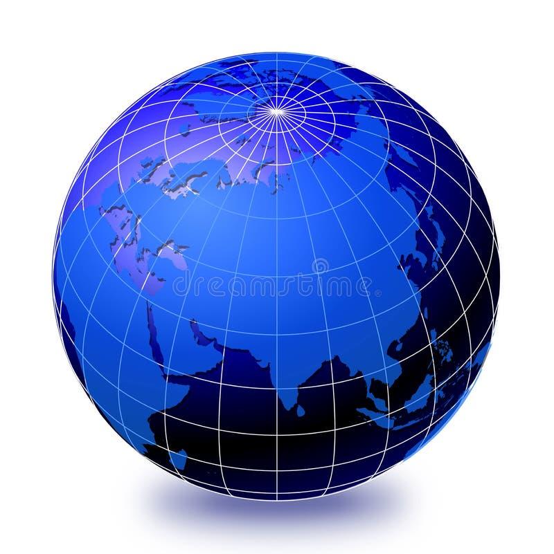 2个地球世界 向量例证