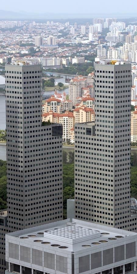 2个城市地平线 免版税图库摄影