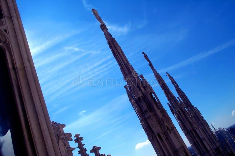 2个大教堂屋顶 库存照片