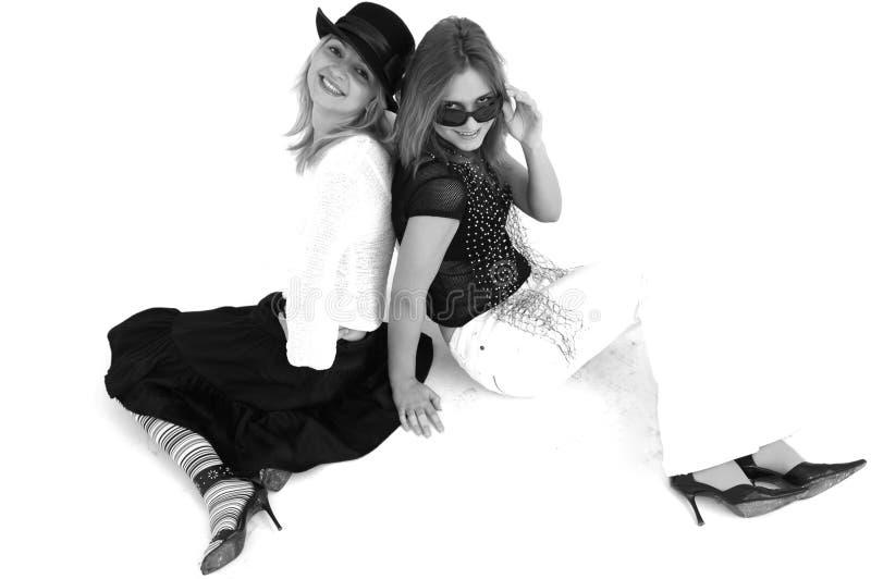 2个女孩当事人 免版税库存图片