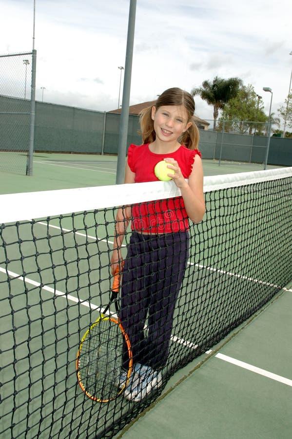 2个女孩网球 库存图片