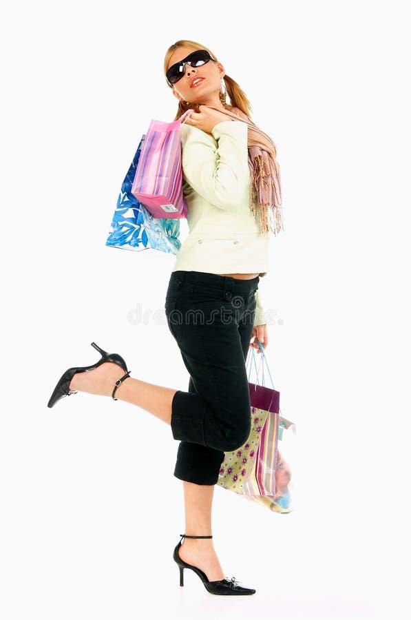 2个女孩购物 图库摄影