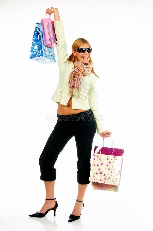 2个女孩购物 免版税库存图片
