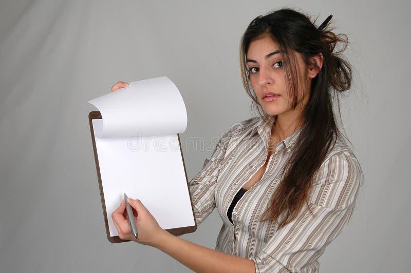 2个女实业家文件 免版税图库摄影