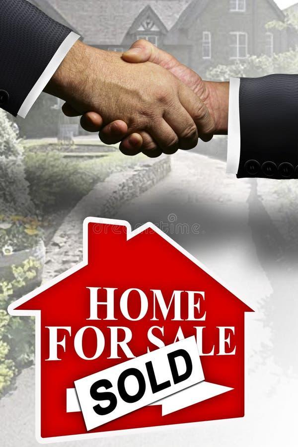 2个庄园家庭实际销售额 免版税库存照片