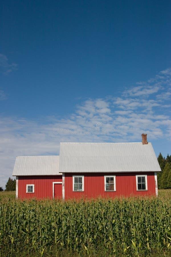 2个房子老红色学校 免版税库存照片