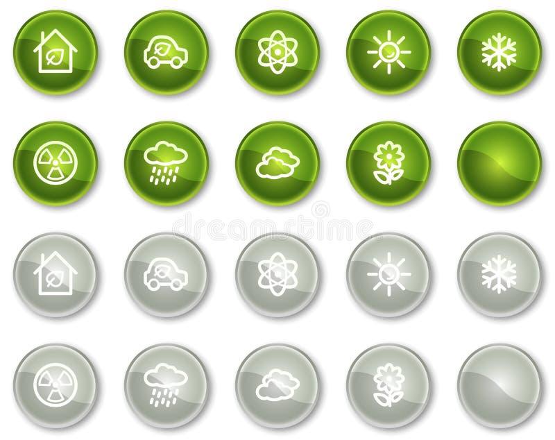 2个按钮圈子生态图标系列集合万维网 库存例证