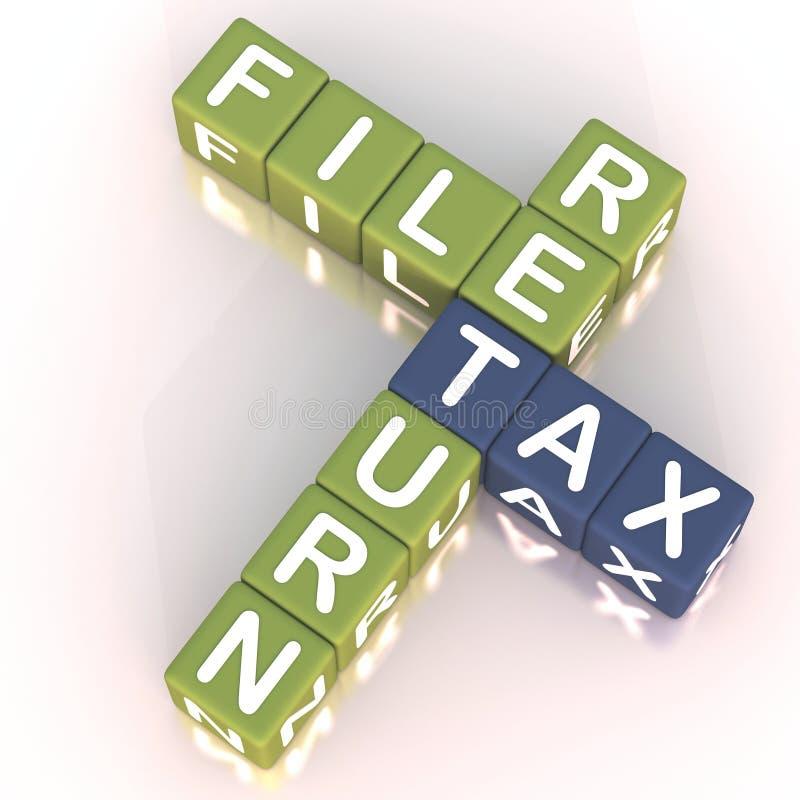 2个文件回归税务 库存例证