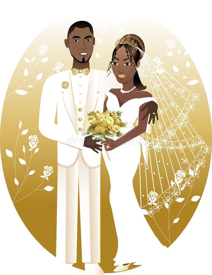 2个新娘新郎 皇族释放例证