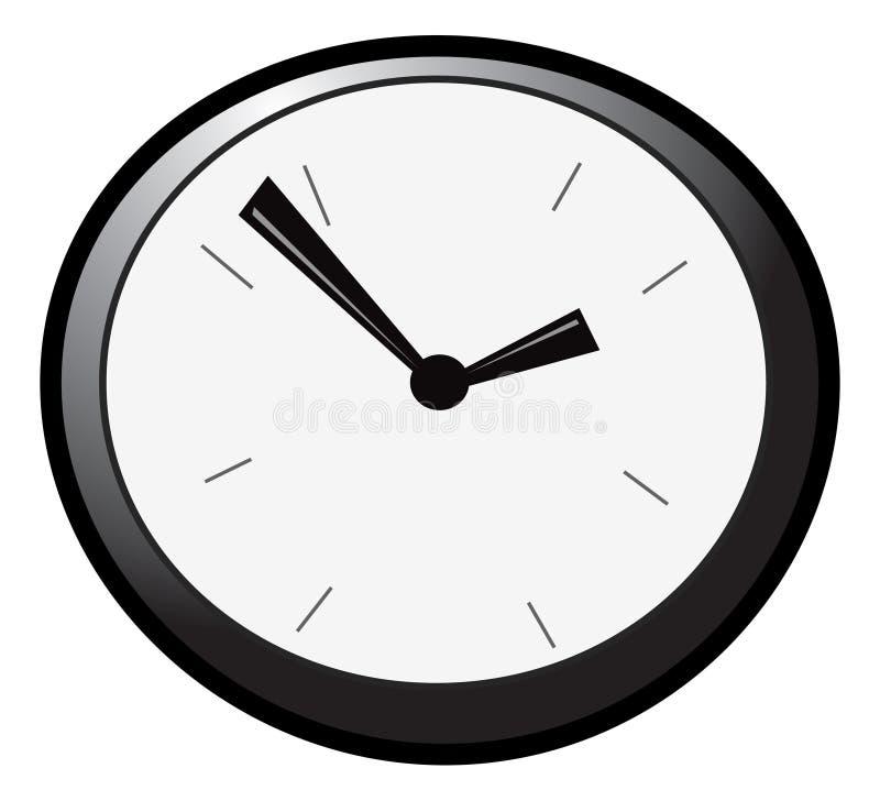 2个时钟墙壁 库存例证