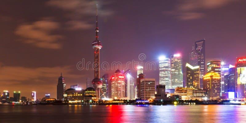 2个晚上上海地平线 免版税图库摄影