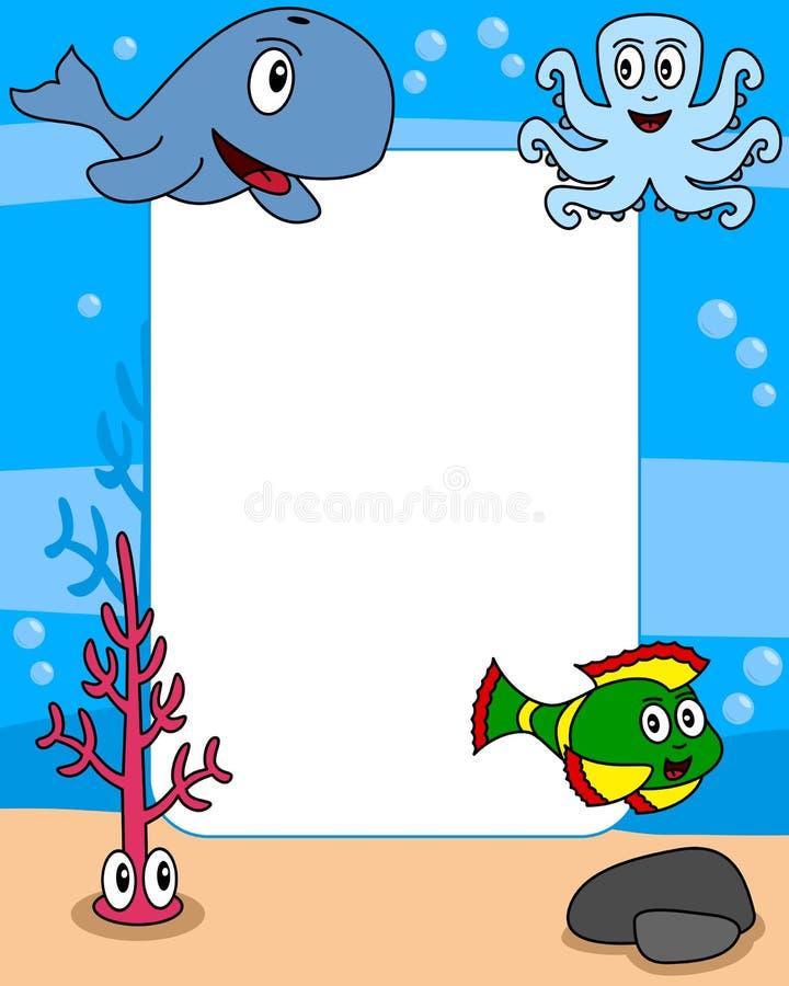 2个框架生活海洋照片 皇族释放例证