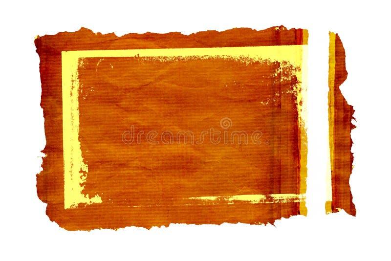 2个框架grunge羊皮纸 向量例证