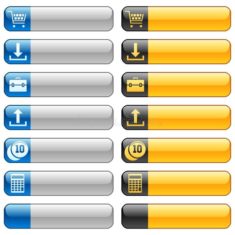 2个横幅按钮图标万维网 皇族释放例证
