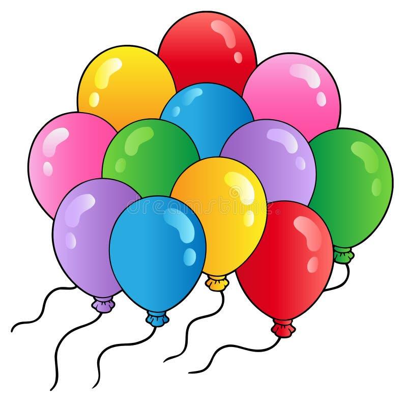 2个气球动画片组 库存例证