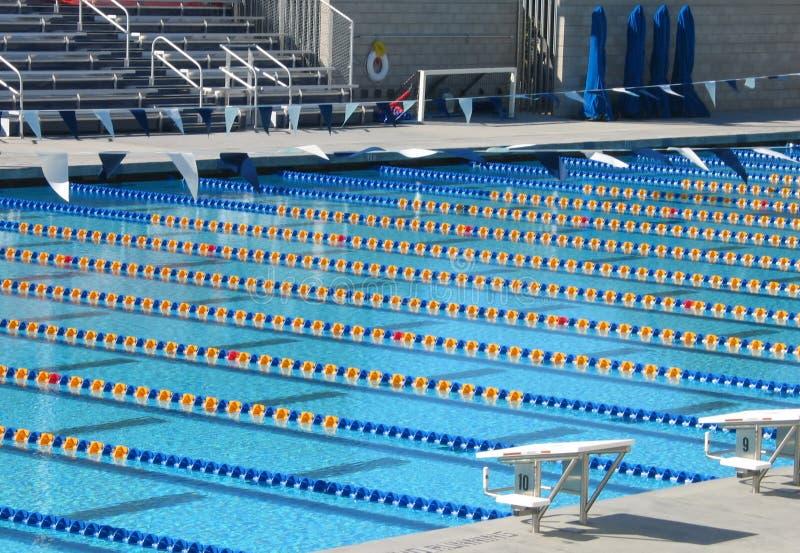 2个池游泳 库存照片