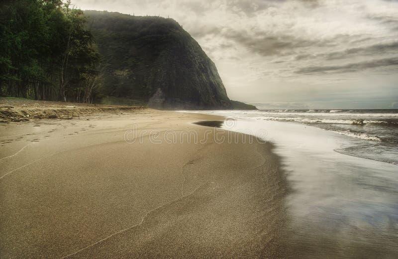 2个海滩黑色日沙子 免版税库存图片