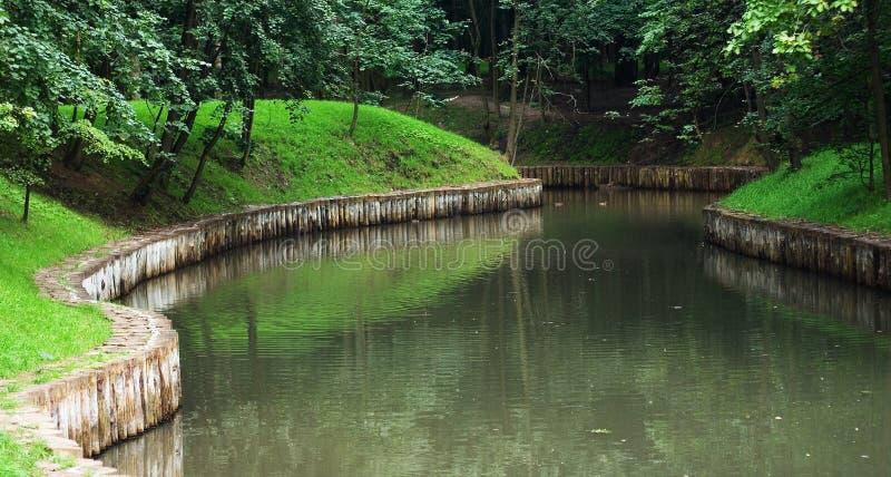 2个湖公园 免版税图库摄影