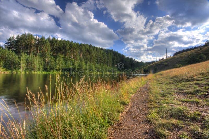 2个湖ribnicko 库存照片