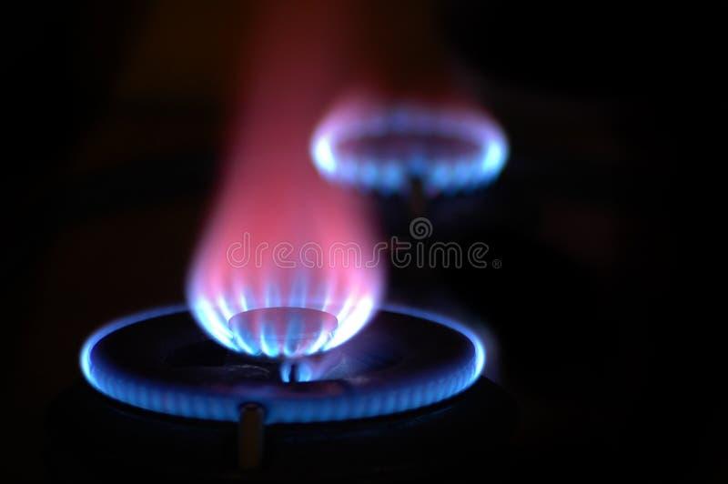 2个火焰火炉 库存图片