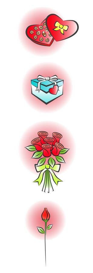 2个爱零件符号 皇族释放例证