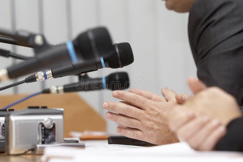 2个特写镜头会议 免版税库存照片