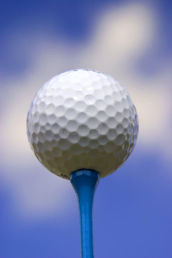 2个球蓝色高尔夫球发球区域 库存照片