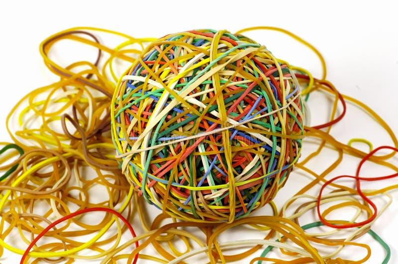 2个球rubberband 免版税库存图片