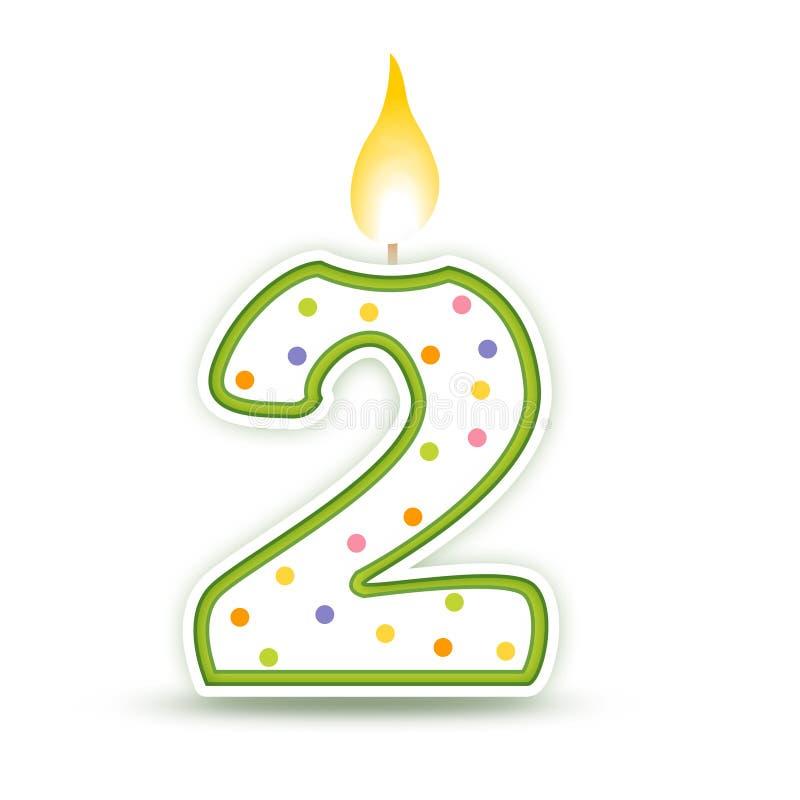 2个生日蜡烛 皇族释放例证
