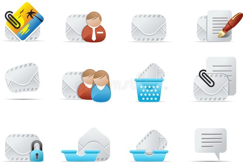 2个电子邮件emailo图标集 库存例证